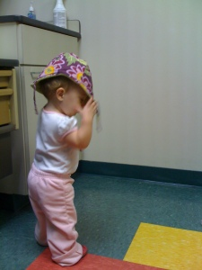 being silly at the doctor's office